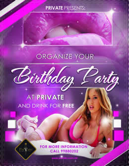 Birthday party at Private Gentlemen's Club and drink for free